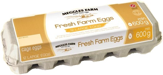 Meggles Farm Fresh Cage Eggs